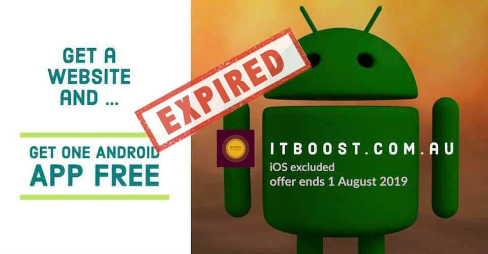 Android Offer by IT BOOST Australia - Expired