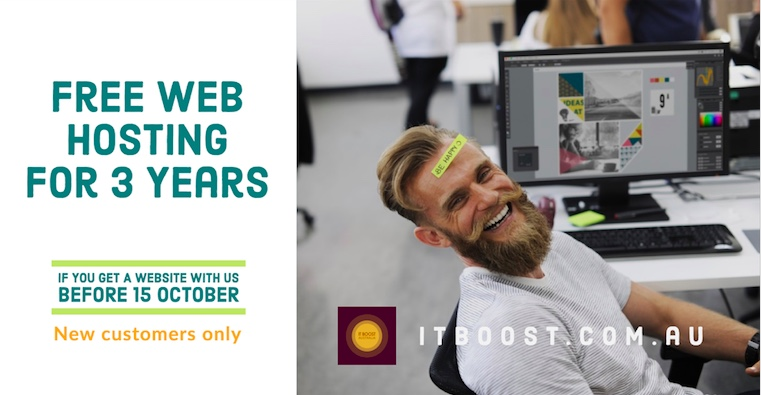 Hot Offer: Free Web Hosting for 3 Years | IT BOOST Australia
