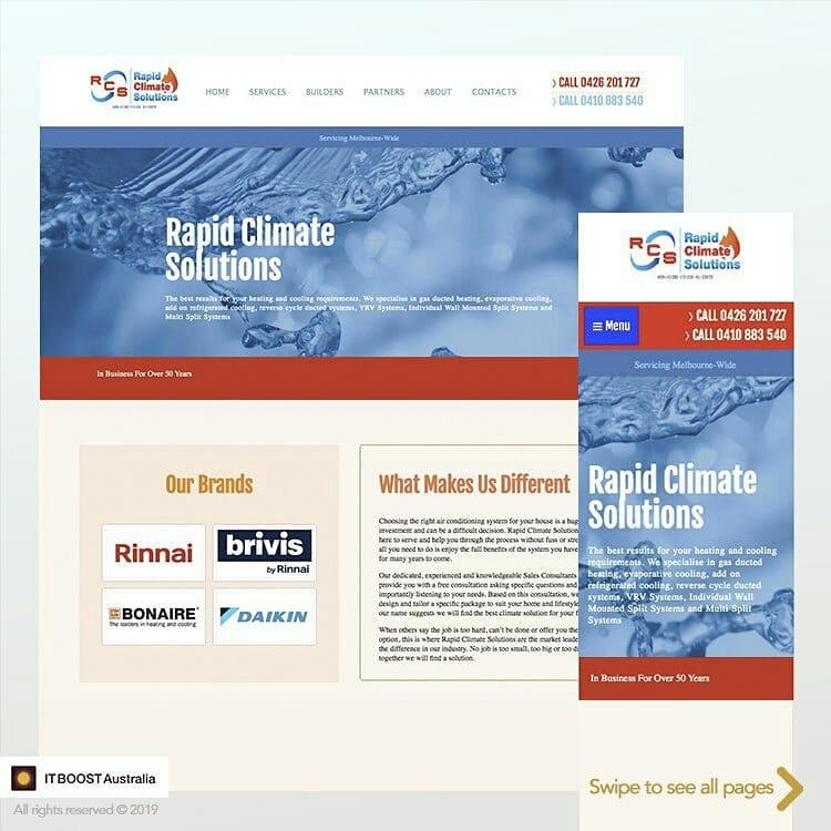 Web Design for Rapid Climate Solutions