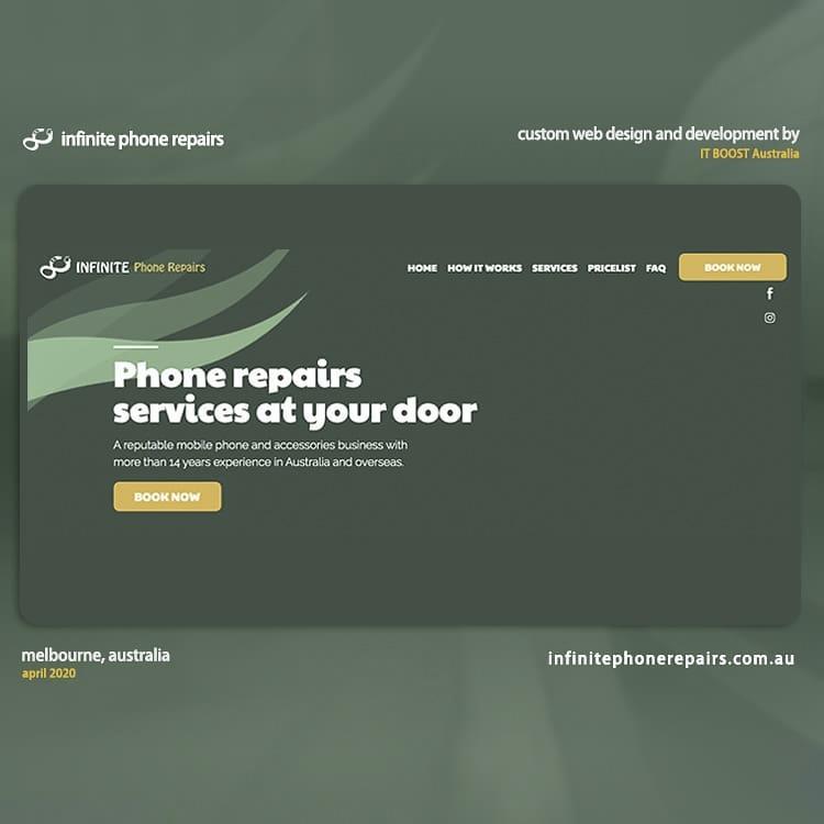 Web Design and SEO for Infinite Phone Repairs